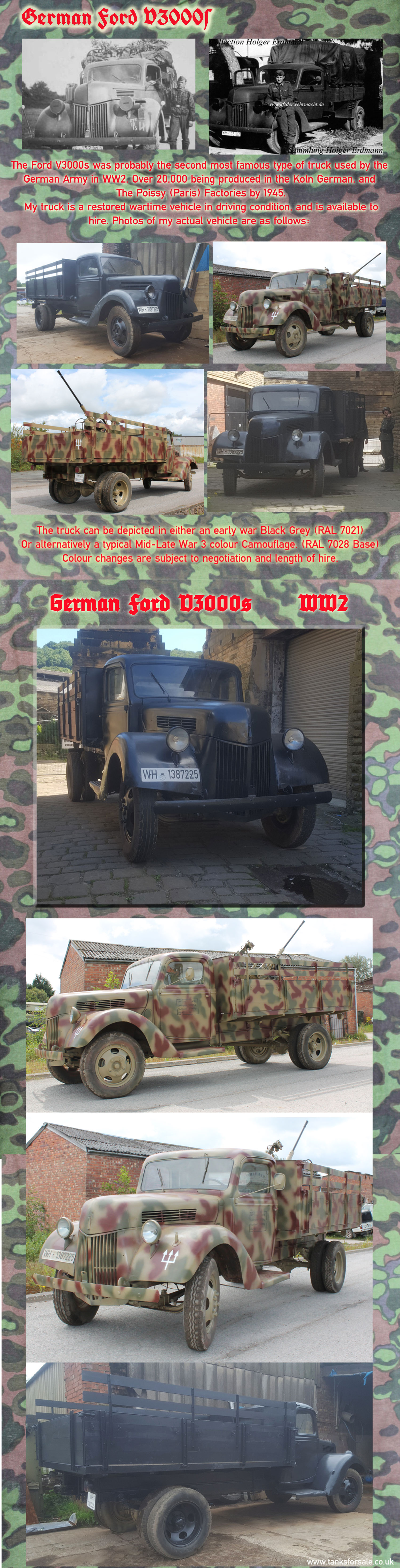 German Truck Ford V3000s details