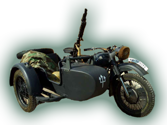 BMW Motorcycle and Sidecar Replica